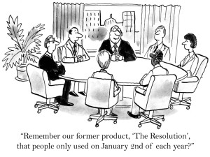 New Yorker Cartoon - New Years Resolutions